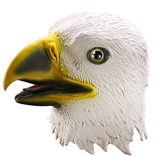 Ylovetoys Head Mask Eagle Mask Novelty Halloween Christmas Easter Costume Party Masks Funny Latex Animal Head Mask -