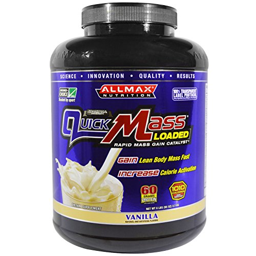 ALLMAX Nutrition, QuickMass Loaded, Rapid Mass Gain Catalyst, Vanilla, 6 lbs (2.7 kg) - 2pc