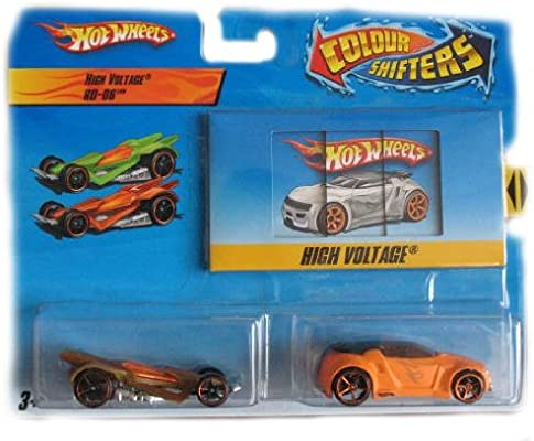 Hot Wheels Color Shifters Cars High Voltage Rd 06 Car Set
