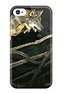 Hot Animal Wolf First Grade Tpu Phone Case For Iphone 4/4s Case Cover by supermalls