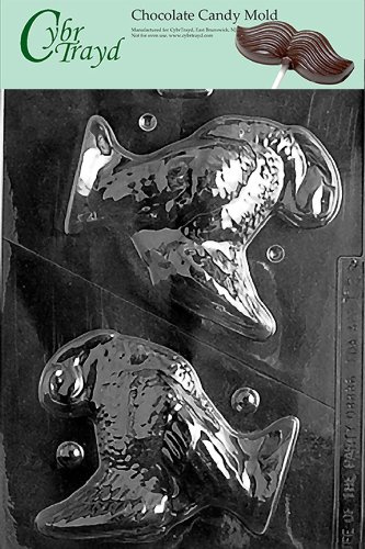 Cybrtrayd T028 5-Inch Hollow Turkey Solid Life of the Party Chocolate Candy Mold with Exclusive Cybrtrayd Copyrighted Chocolate Molding (Turkey Candy Mold)