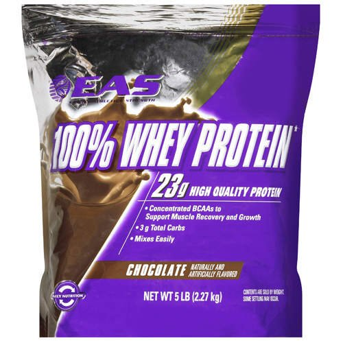 100% Whey Protein-EAS 5 LB. Resealable Bag- Chocolate