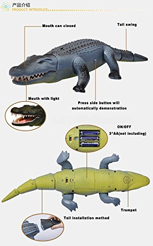 Liberty Imports Remote Control Crocodile Toy RC Walking Alligator with Lights and Sound Effects by Liberty Imports (Image #5)