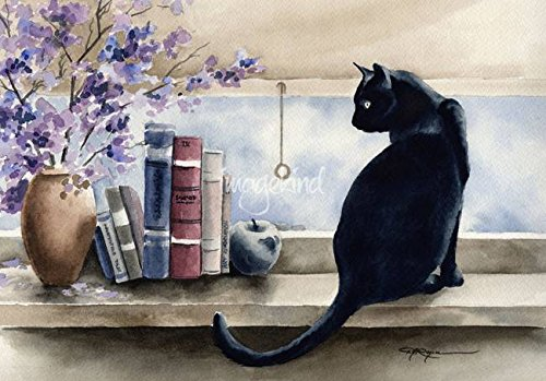 Wall Art Print entitled Black Cat by David Rogers