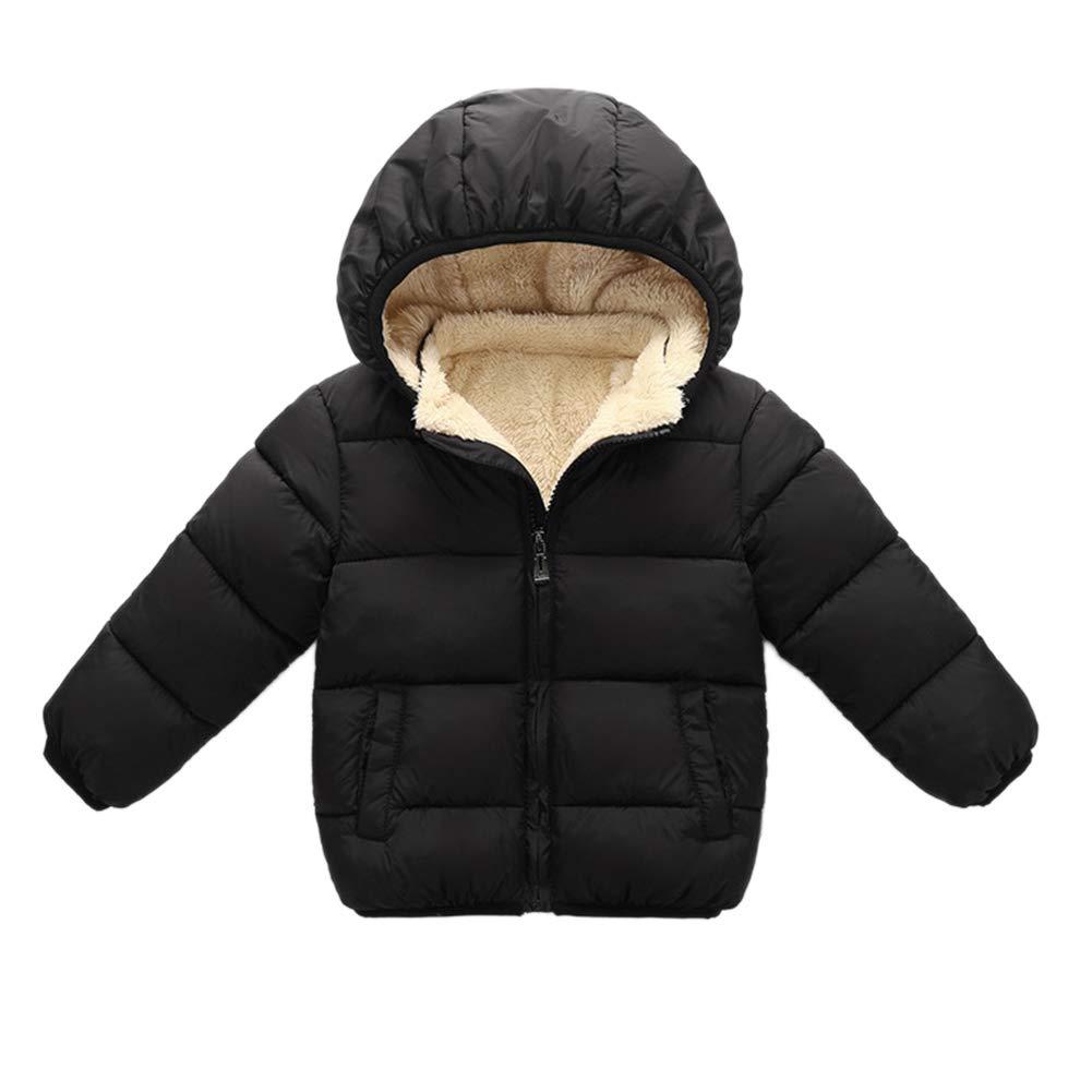 Hongyuangl Bambino ragazzi ragazze inverno Puffer cappotto bambini addensare cotone pile giacca outwear cappotto con cappuccio