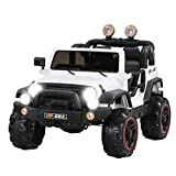Uenjoy Kids Electric Power Wheels 12V Ride on Cars with Remote Control 2 Speed White