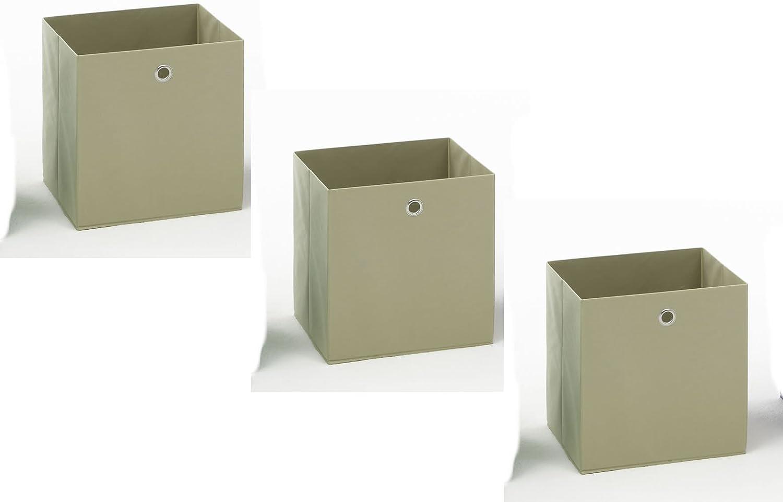 3 er Set Korb Regalkorb Stoffkorb ANTHRAZIT SCHWARZ ca 32,5 x 32,5 x 32,5 cm