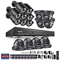 SANNCE 16 Channel 1080P HD DVR Video Security System and (16) 2.0MP 1920TVL Indoor/Outdoor Weatherproof Surveillance Cameras with IR Night Vision LEDs, Smartphone& PC Easy Remote Access - NO HDD