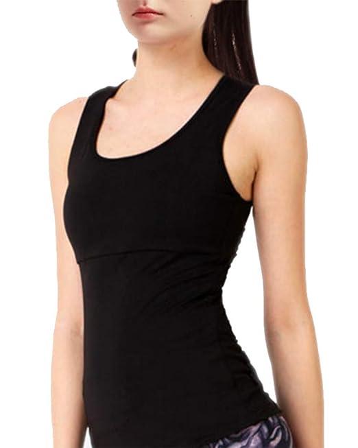 MISSMAOM Deportiva para Mujer sin Mangas S Respaldo Yoga Camiseta de Tirantes: Amazon.es: Ropa y accesorios