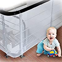 LULUME Baby Safety Rail Net - Banister Stair and Balcony Safety Net for Indoor & Outdoor - Pet & Toy Safety -10 ft x 2.5 ft