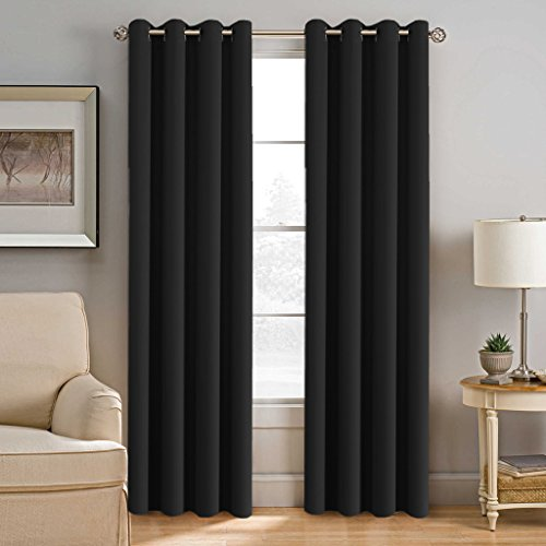 H.VERSAILTEX 100% Blackout Shade Curtains Thermal Insulated Grommet Window Treatment Panels,52