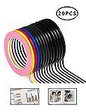 XP-Art 20 Pack Graphic Chart Tape Art Tape Whiteboard Tape Vinyl Tape
