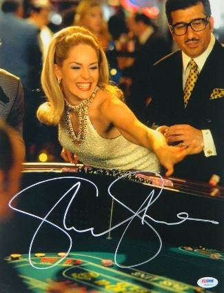 Sharon Stone signed Casino 11x14 Photo Rolling Craps Dice- Hologram (entertainment/movie memorabilia) - PSA/DNA Certified from Hollywood Memorabilia