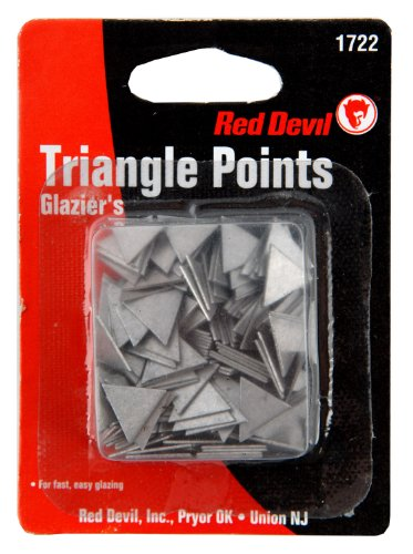 "Red Devil 1722 Large Glazing Triangle Points, 1/2"" Edge Length"