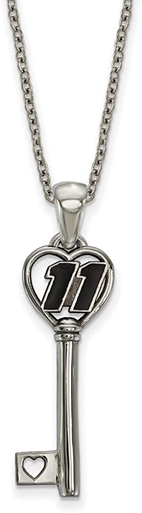 Sonia Jewels Solid Stainless Heart Key 1 Small Driver Number # 11-34mm x 10mm
