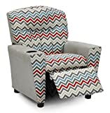 Zoom Zoom Pewter Natural - Silver Suede Kids Recliner 644358