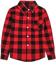 SANGTREE Girls' Women's Button Down Plaid Cotton Tops Shirt, 3 Months