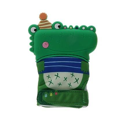 Huihu lindo cocodrilo dentición guante niño chupar los dedos ...