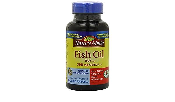 Amazon.com: Aceite De Pescado En Capsulas - Con Omega 3 - Incluye 90 Pastillas De 300 mg- Vitaminas Para Su Cuerpo: Health & Personal Care
