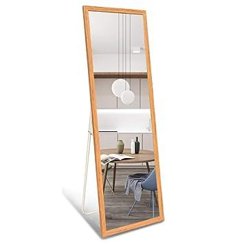 Amazon.com: Espejo de piso, gran espejo de pie para ...