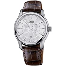 Oris Artelier Regulateur Automatic Stainless Steel Mens Strap Watch Silver Dial 749-7667-4051-LS