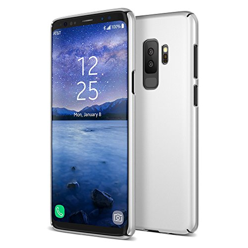 (Maxboost Galaxy S9 Plus Case mSnap Series Samsung Galaxy S9 Plus Case Anti-Slip Matte Coating for Excellent Grip/Scratch Resistant Thin Snap Protective Hard Phone Covers 2018 [Silver])