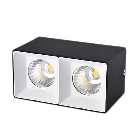 Downlight Superficie montada downlight cuadrado led luz de techo ...