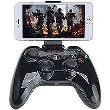 Megadream Apple MFi Certified App Store IOS Games Gamepad Joystick Controller for iPhone X 8 8Plus 7 7Plus 6S 6 5S, iPad Air 2 Mini 4 3 Pro, Apple TV – Clamp Holder Included / Max Clamp 6 inch Phone