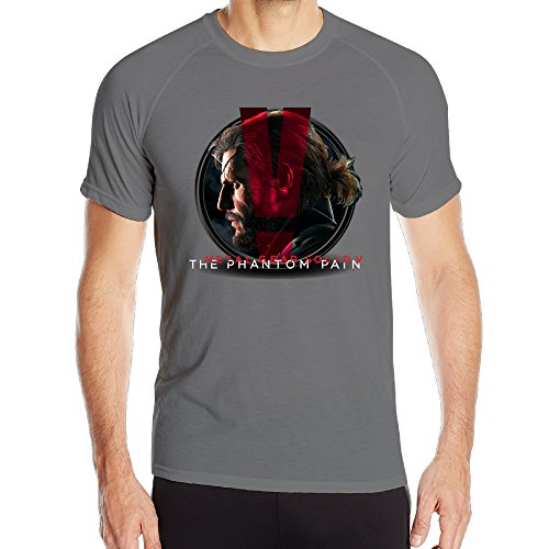Price comparison product image EWIED Men's Metal Gear Solid V The Phantom PainCool Athletic Tee DeepHeather SizeXL
