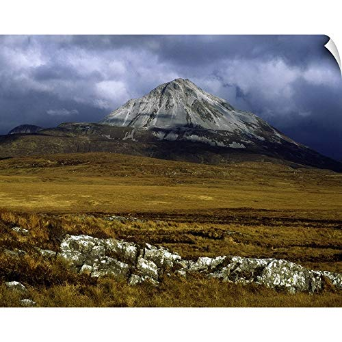 Mount Canvas Collection (CANVAS ON DEMAND The Irish Image Collection Wall Peel Wall Art Print Entitled County Donegal, Mount Errigal, Ireland 14