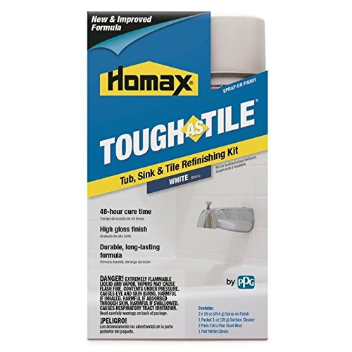 Homax 720773 Tub & Sink Brush-On One-Part Epoxy, 26-Ounce White by Homax