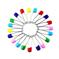 ACTLATI 20PCS Colorful Pins Safety Safe Hold Clip for Baby Infant Kids Bib Diaper Nappy Cloth Locking