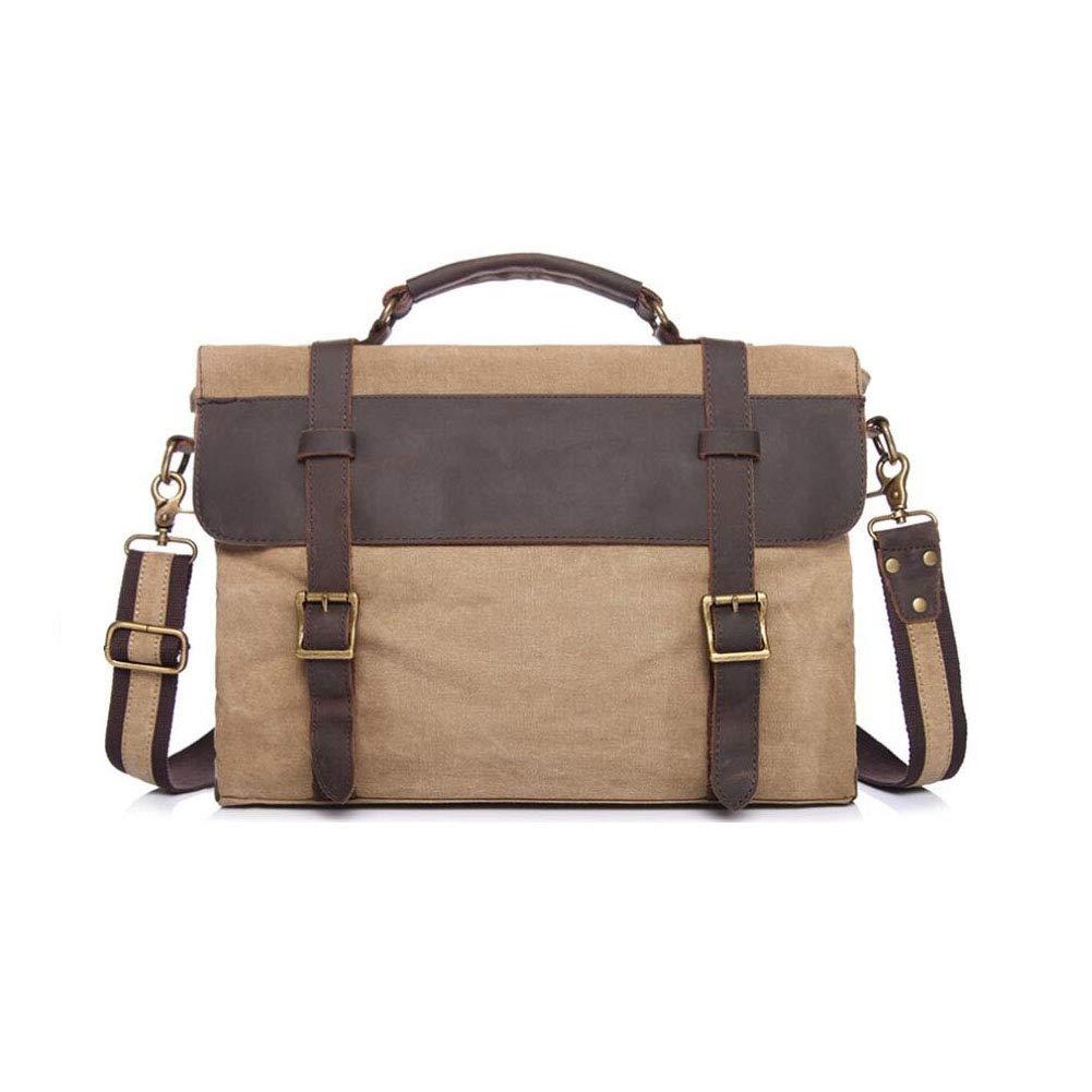 Coral Cyan Color : E Dark Gray Military Green Xinyuan The New Mens Messenger Bag Canvas Briefcase Mens Retro Handbag Business Bag Travel School Leisure Khaki Brown