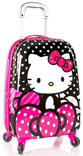 """Hasbro Hello Kitty Girl's 20"""" Hardside Spinner Carry On Expandable Luggage"""