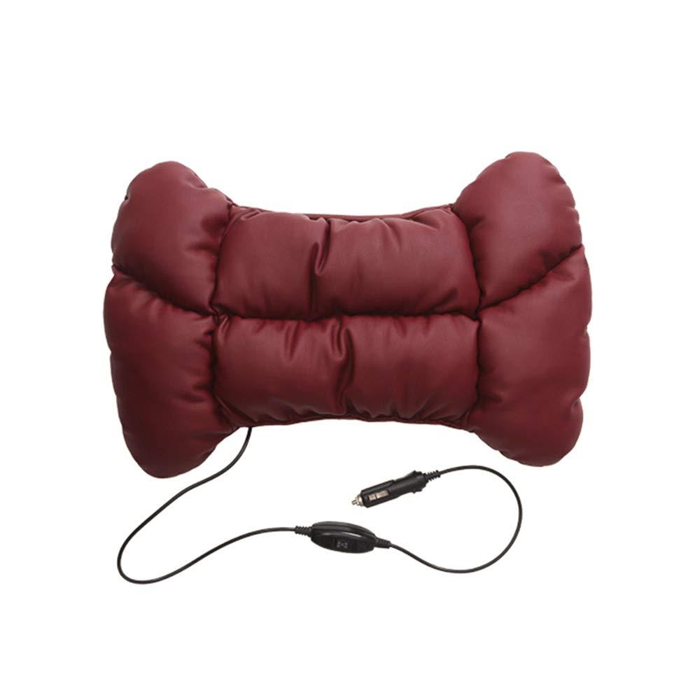 19/5000 カーマッサージクッション 12Vカーアクセサリー電動マッサージ腰部クッションウエストピローカーサポートピロー (色 : Red)  Red B07J6SKV3L
