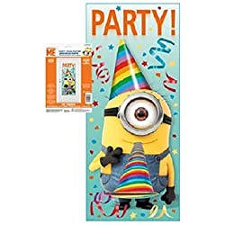 "Despicable Me 2 Plastic Door Poster Banner 27"" X 60"" ~ 1 Count ~ Birhtday Party Supplies"
