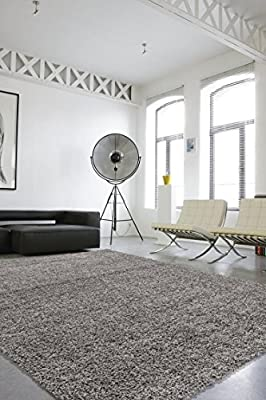 Sweet Home Stores Cozy Shag Collection Solid Shag Rug Contemporary Living & Bedroom Soft Shaggy Area Rug