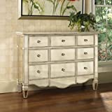 Pulaski Veronica Mirrored Accent Chest, 46 by 15 by 34-Inch, Silver