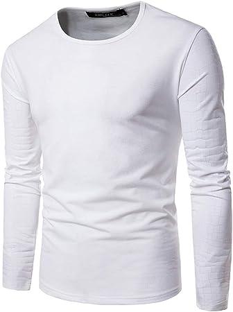 Camiseta de manga larga para hombre Suéter de los hombres Cuello redondo Metálico Mangas brillantes Camisas Manga larga Camisa de ajuste regular Fiesta Club nocturno 3 colores para traje de fiesta Cam: