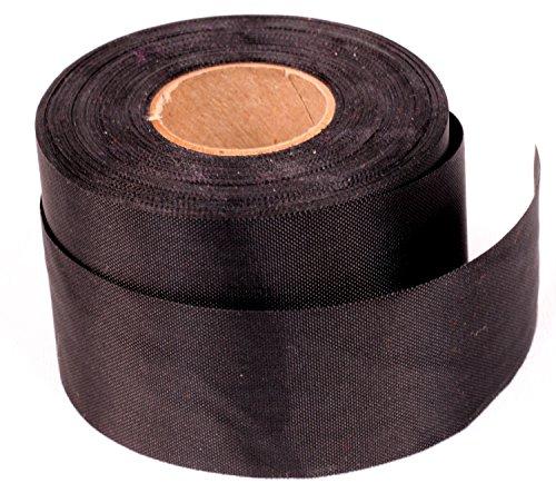 (Windsock Fabric Streamer Material, 1-1/2 Inch Wide x 75 Foot Roll, 200 Denier Nylon, UV Treated, DIY Ribbon- Black)