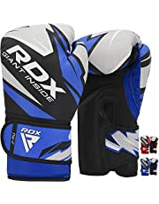 RDX Kids Boxing Gloves for Training and Muay Thai, Maya Hide Leather Junior Mitts for Kickboxing, Sparring and Fighting, Good for Youth Punch Bag, Grappling Dummy and Focus Pads Punching