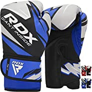 RDX Kids Boxing Gloves for Training and Muay Thai, Maya Hide Leather Junior Mitts for Kickboxing, Sparring and
