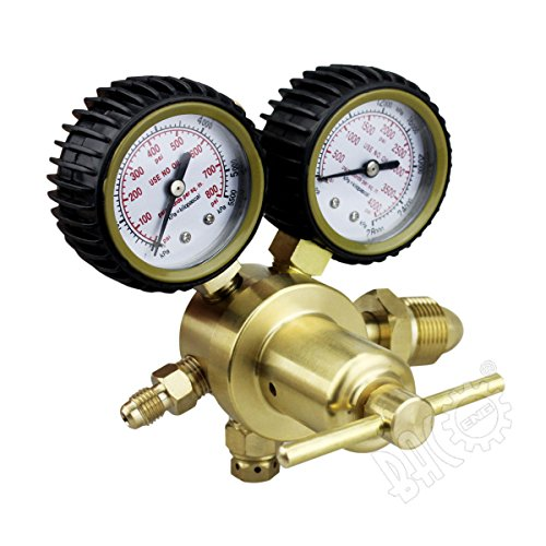 Hot BACOENG Nitrogen Regulator with 0-400 PSI Delivery Pressure, Inlet Connection and 1/4-Inch Male Flare Outlet Connection for cheap