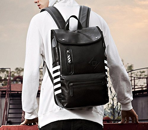 Backpack Men's Laidaye Black Travel Bag capacity Shoulder Large ZSgqU8