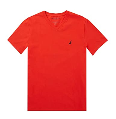 7b32f486 Amazon.com: NAUTICA Men's Solid V-Neck Tee T-Shirt: Clothing