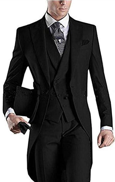 Amazon.com: Traje de hombre blanco de 3 piezas, largo, con ...