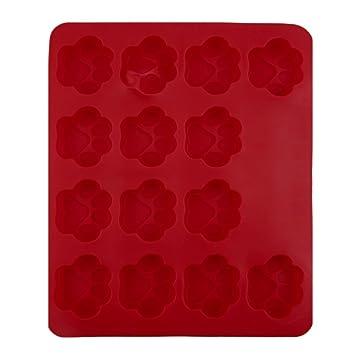 WINOMO para galletas para tartas DIY molde Herramientas – perro huellas molde (rojo)