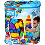 Sacola de 80 Blocos Mega Bloks, Mattel, Branco