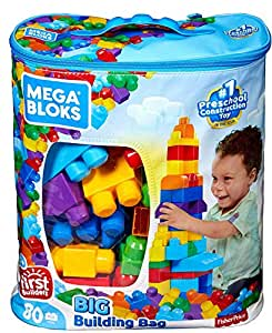 Mega Bloks DCH63 80-Piece Big Building Bag - Classic