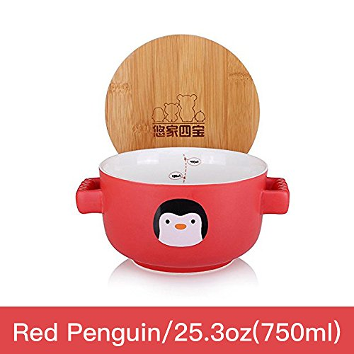 UPSTYLE Cute Cartoon Ceramic Soup Bowl Big Capacity Coffee M